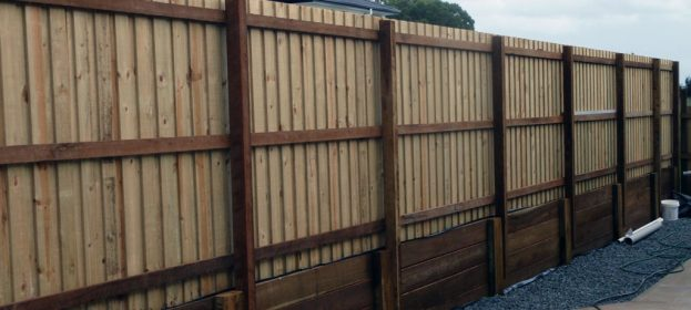 Overlapped Timber Fence