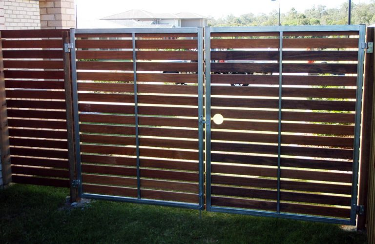 Steel Framed Timber Gates