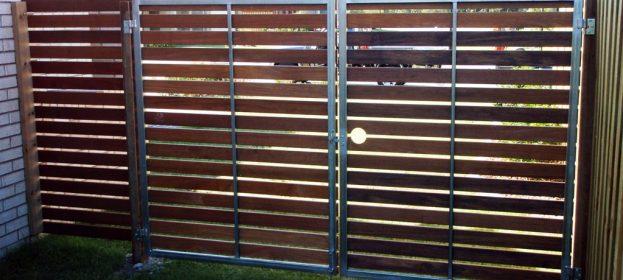 Steel Framed Timber Gates
